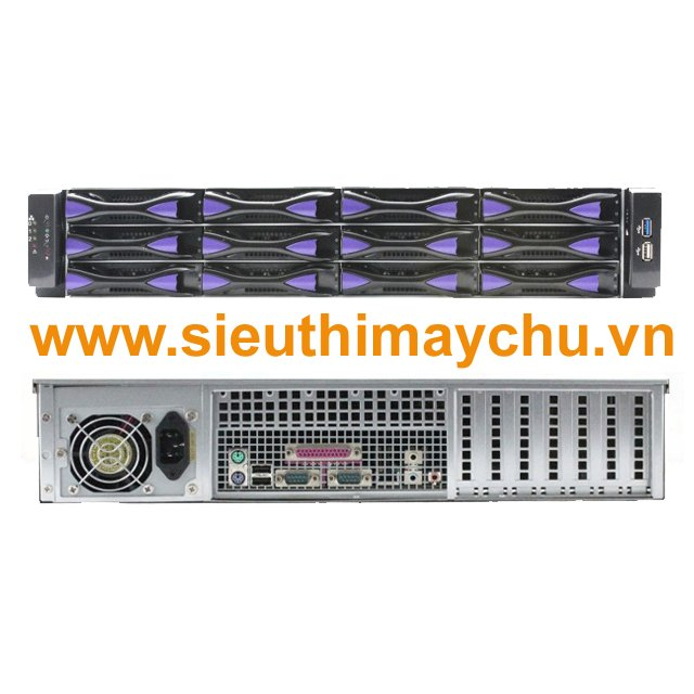 Chassis SN212-600W - 1x600W Power Supply
